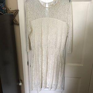 Cream Lacy dress